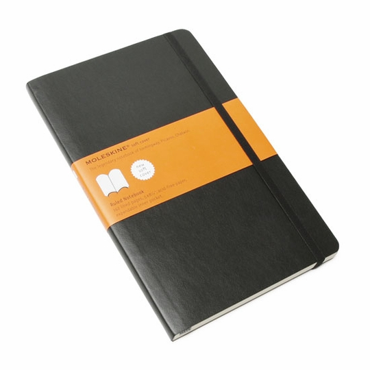 Moleskine Classic Large Soft Cover Ruled Notebook (5 x 8.25)