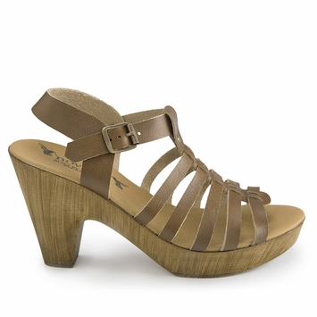 Novacas Beatrice Cork Sandal in Brown