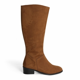 Novacas Devi Faux Suede Riding Boot in Tan
