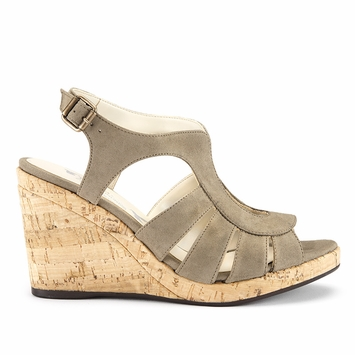 SALE / Novacas Lucia Wedge Sandal in Tan