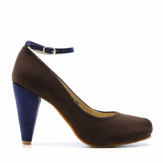 Olsen Haus Faith Heel ( Chocolate w/Eggplant Heel )