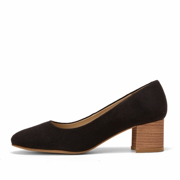 Olsen Haus Stacked Heel Pump in Black
