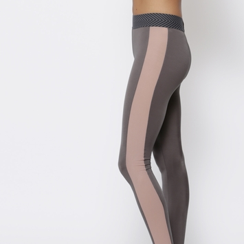 Olympia Titan Legging in Iron/Nude