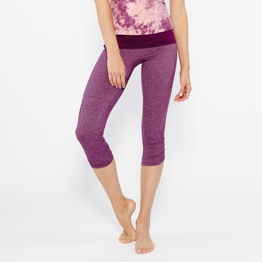 SALE / Om Girl Ahimsa Capri ( Boysenberry )