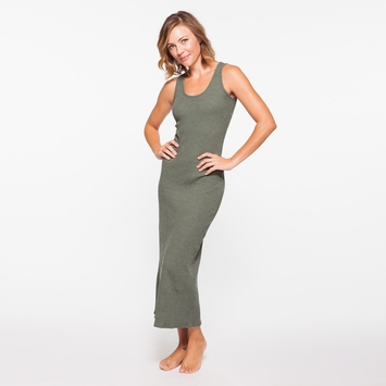 Om Girl Essential Maxi Dress in Martini Olive
