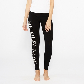 Organic Om Girl Be Here Now Hatha Legging in Black