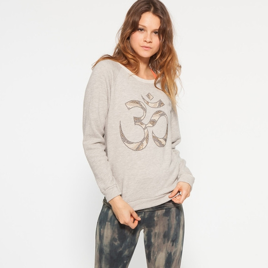 Om Girl OM Sweatshirt ( Concrete )
