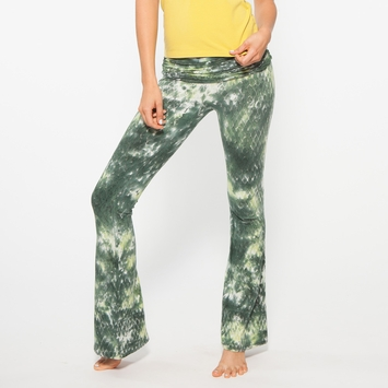 Organic SALE / Om Girl Snake Charmer Practice Pant in Gorgeous Green/Tempting Pear