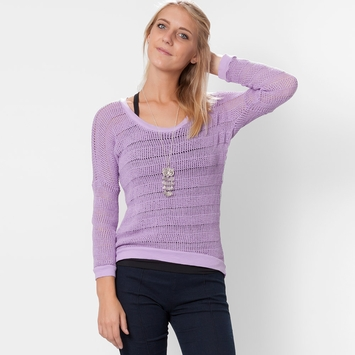 Om Girl Shanti Sweater in Orchid