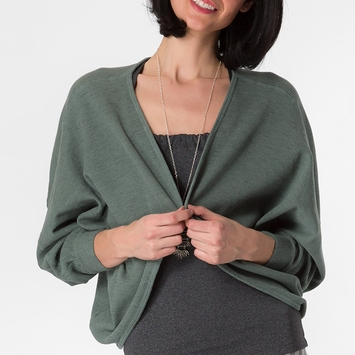 Om Girl Studio Shrug in Martini Olive