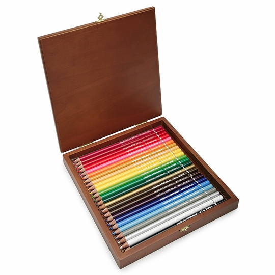 Palomino Artist Color Pencils Wood Box 24 Ct Eco Paper