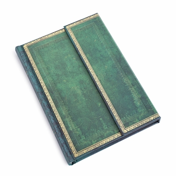 Paperblanks Large Jade Wrap Journal (5 x 7) in Ruled (lined pages)