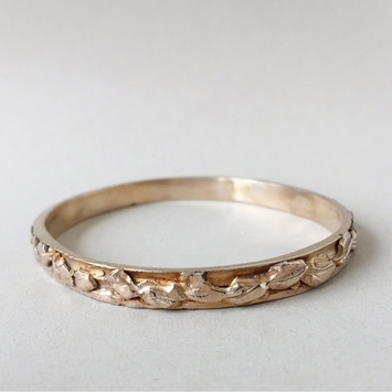 Peter Hofmeister Bronze Leaf Bangle
