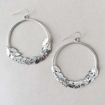Peter Hofmeister Seeded Leaves Earrings