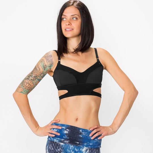 Phat Buddha Fifth Ave Cut Out Bra Top ( Black )