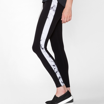 Phat Buddha Filmore Leggings in Caviar/Star White