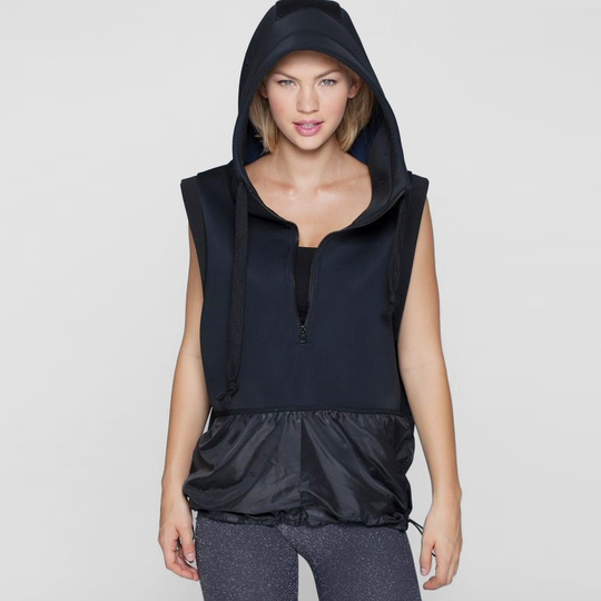 Phat Buddha Hooded Vest ( Black )