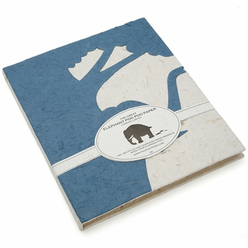Poo Poo Paper Elephant Silhouette Journal (8 x 7.75) in Blue
