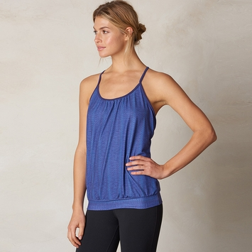 Eco Prana Andie Yoga Tank Top in Bluebell Ziggie