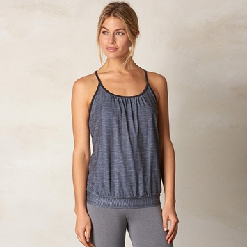 Eco Prana Andie Yoga Tank Top in Charcoal Ziggie