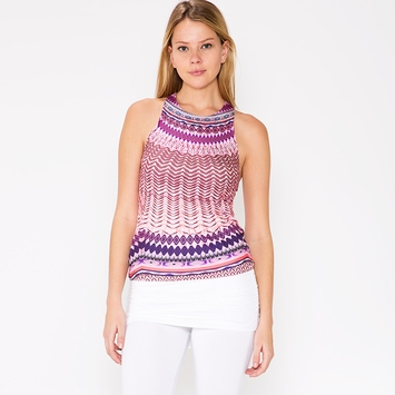 Prana Boost Printed Top in Violet Sol