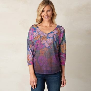 Prana Botanical Burnout Top in Dark Eggplant