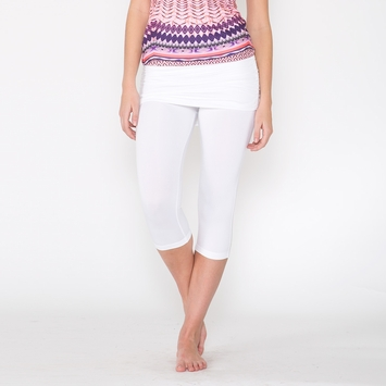 Eco Prana Cassidy Capri in White