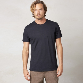 Organic Prana Short Sleeve Crew Tee in Black