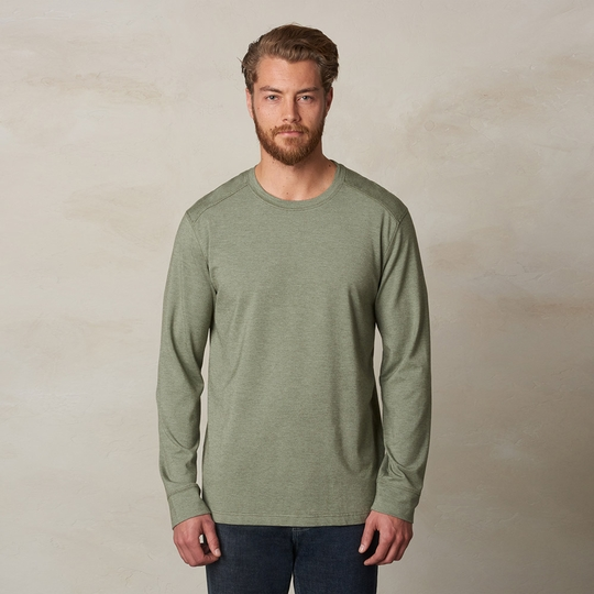 Prana Decco Long Sleeve Crew ( Cargo Green )