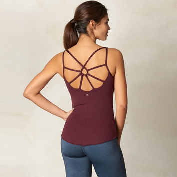 Eco Prana Dreaming Tank Top in Eggplant