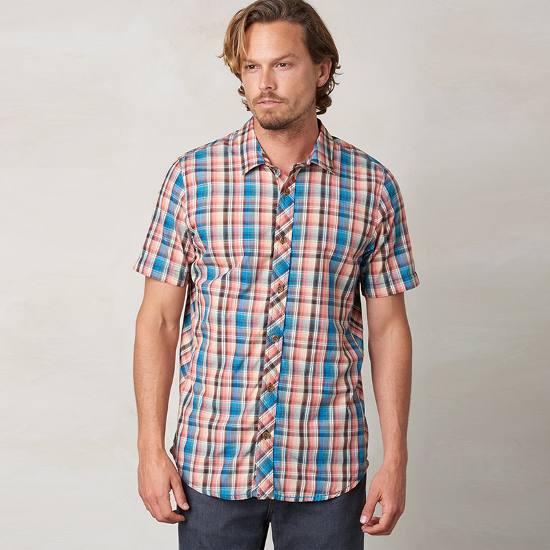 Prana Elliot Slim Fit Short Sleeve Shirt Mens Apparel at Vickerey