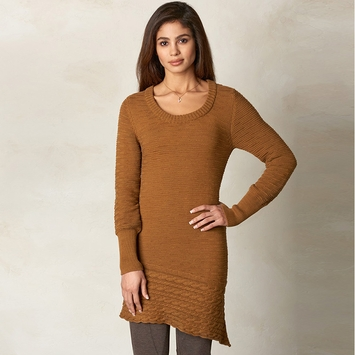Organic Prana Felicia Tunic Sweater in Dark Ginger
