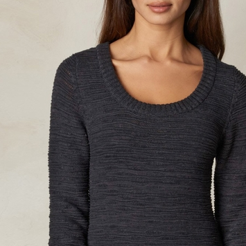 Organic Prana Felicia Tunic Sweater in Coal