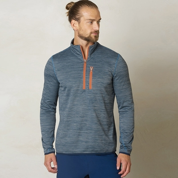 Prana Gatten 1/4 Zip Fleece Jacket in Blue Ridge