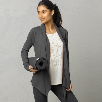 Organic Prana Georgia Wrap in Charcoal