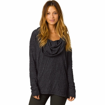 Organic Prana Ginger Cowl Neck Top in Black