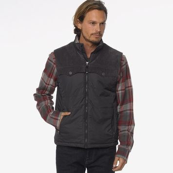 Prana Hoffman Vest in Charcoal