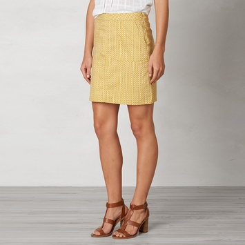 Organic Prana Kara Denim Skirt in Marigold Mixer