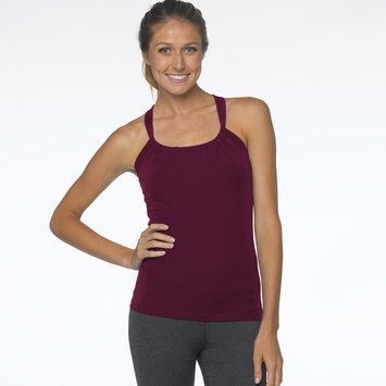 SALE / Prana Quinn Chakara Tank Top in Plum