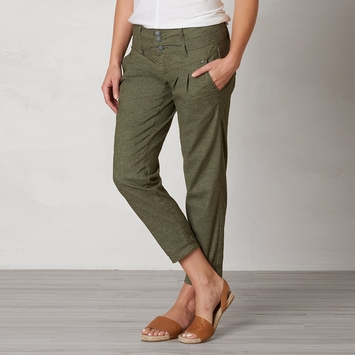 Hemp Prana Lizbeth Capri in Cargo Green