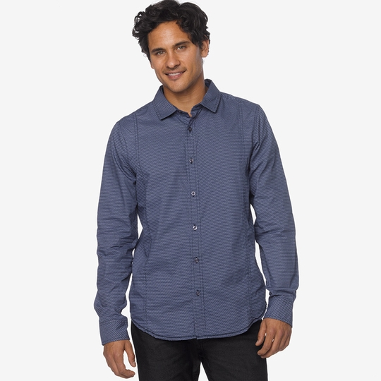 SALE / Prana Lukas Poplin Long Sleeve Shirt ( Blue Ridge )