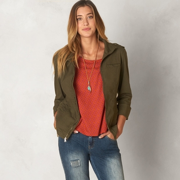 Organic Prana Mayve Jacket in Cargo Green