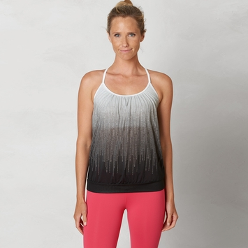 Eco Prana Meadow Draped Top in Black Cascade