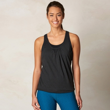 Prana Mika Double Layer Racer Tank in Black