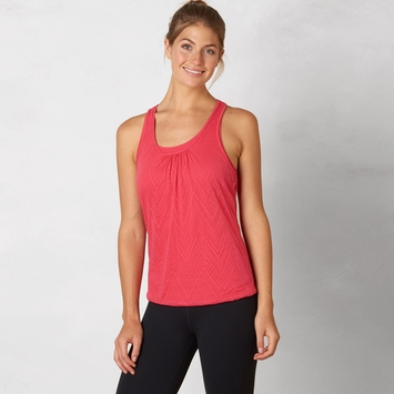 SALE / Prana Mika Double Layer Racer Tank in Azalea