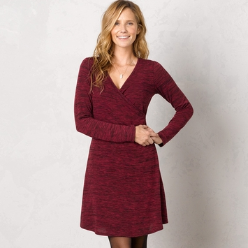 SALE / Prana Nadia Dress in Plum Red
