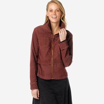 Prana Nadine Denim Cord Jacket in Raisin