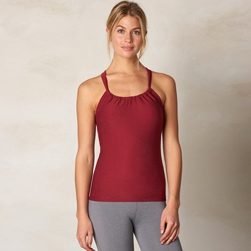 SALE / Prana Quinn Jacquard Tank Top in Red Jacquard