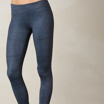 Prana Roxanne Printed Legging in Charcoal Moto