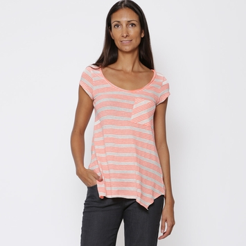 Organic Prana Skylar Top in Glowing Coral